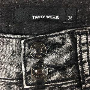 Tally Weijl Shorts - Tally Weijl Black Acid Wash Shorts